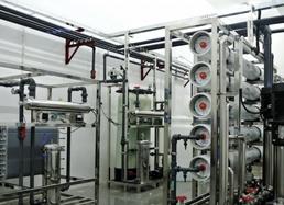 水处理设备采用膜分离手段来除去水中的离子